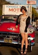 Victoria Justice and a Red Chevy Classic