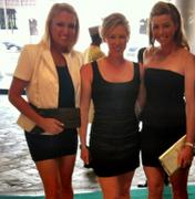 Natalie Gulbis, Morgan Pressel and Paula Creamer headed out to a party in Singapore
