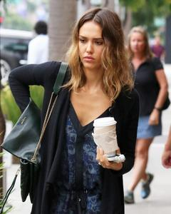 Jessica Alba @ Coffee Bean run in Beverly Hills 07-01-2014
